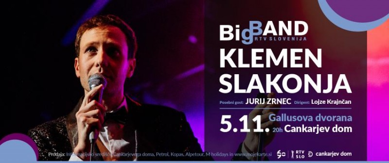 Biglietti per Klemen Slakonja in Big Band RTV Slovenija, 05.11.2018 al 20:00 at Gallusova dvorana/ Gallus Hall