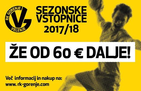 Tickets for Sezonska vstopnica 2017/2018, 17.09.2017 on the 17:00 at Rdeča dvorana