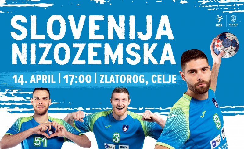 Tickets for SLOVENIJA - NIZOZEMSKA, 14.04.2019 on the 17:00 at Športni park Celje - dvorana Zlatorog