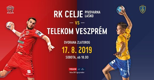 Tickets for CELJE PIVOVARNA LAŠKO - HC TELEKOM VESZPREM, 17.08.2019 on the 18:00 at Športni park Celje - dvorana Zlatorog