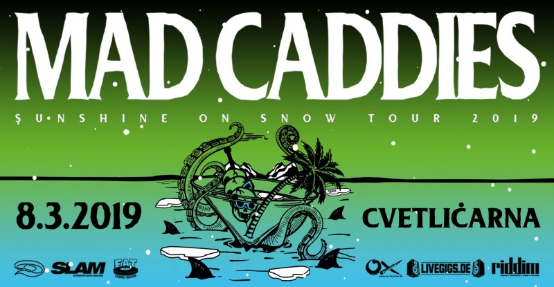 Tickets for Mad Caddies, 08.03.2019 um 20:00 at Cvetličarna, Ljubljana