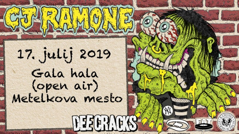 Tickets for CJ RAMONE, 17.07.2019 um 20:00 at Gala Hala, Metelkova (Ljubljana)