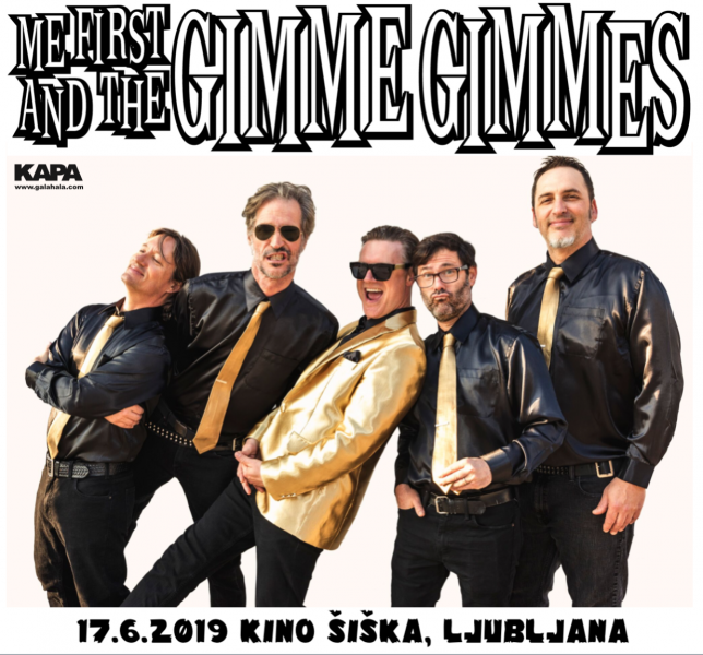 Tickets for Me First And The Gimme Gimmes, 17.06.2019 um 20:30 at Kino Šiška - dvorana Katedrala, Ljubljana