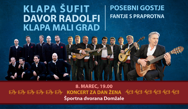 Vstopnice Za Dalmatinski Vecer Za Dan Zena Klapa Sufit Davor