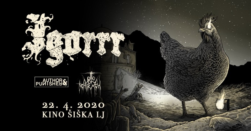 Tickets for IGORRR - Spirituality and Distortion tour; Special Guests: AUTHOR&PUNISHER, OTTO VON SCHIRACH, 22.04.2020 on the 20:00 at Kino Šiška, Ljubljana