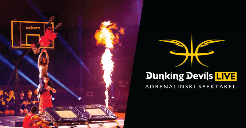 Tickets for Dunking Devils LIVE - adrenalinski spektakel, 17.05.2019 on the 19:00 at Hala Tivoli - mala dvorana
