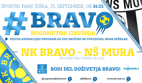 Tickets for NK BRAVO : NŠ MURA, 25.09.2019 on the 15:45 at Športni park Ljubljana